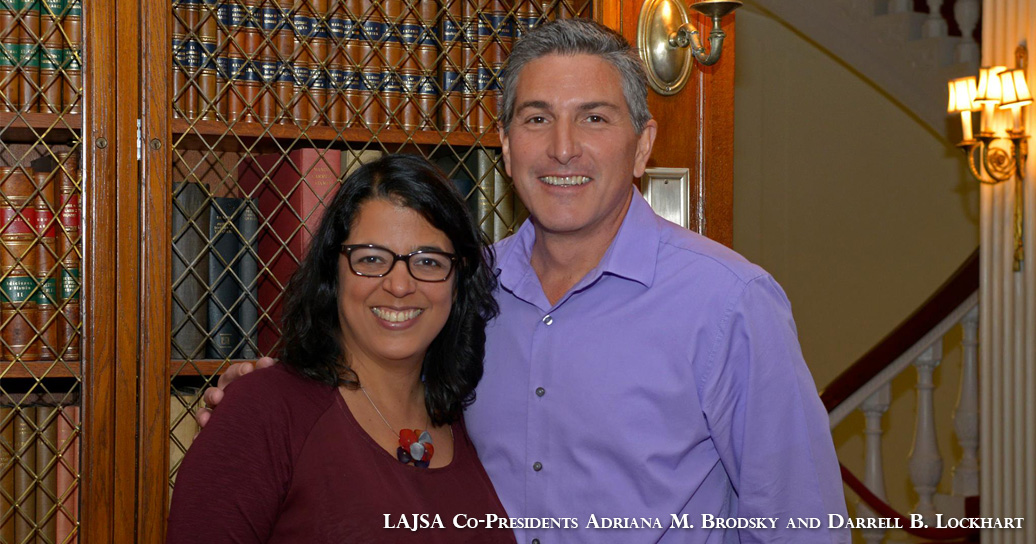 LAJSA Co-presidents Adriana M. Brodsky and Darrell B. Lockhart
